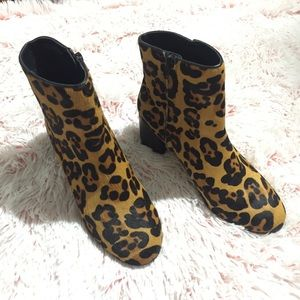 UO Thelma Leopard Ankle Boots! Like New